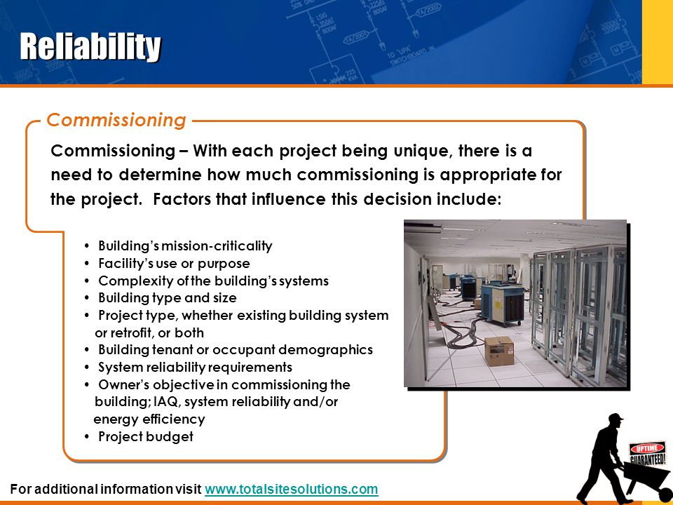 Reliability Commissioning
