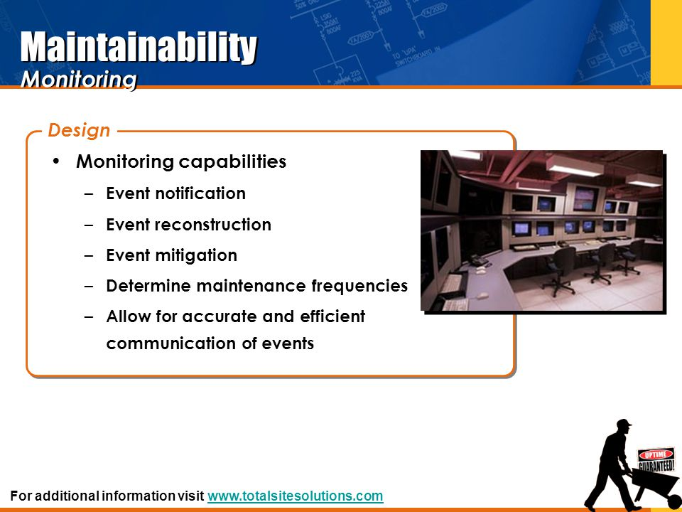 Maintainability Monitoring Design Monitoring capabilities