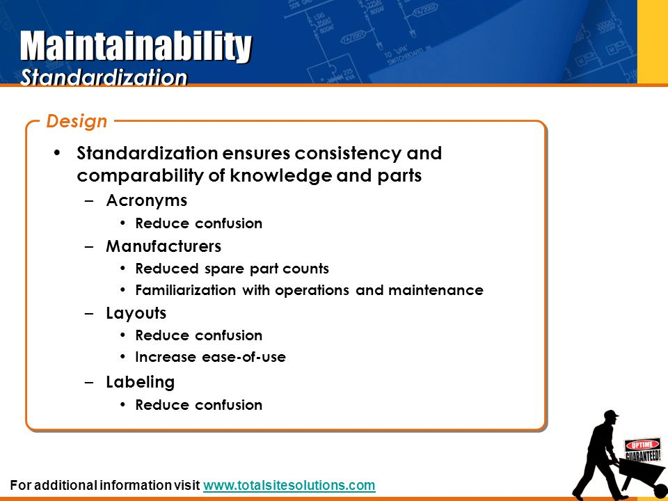 Maintainability Standardization Design