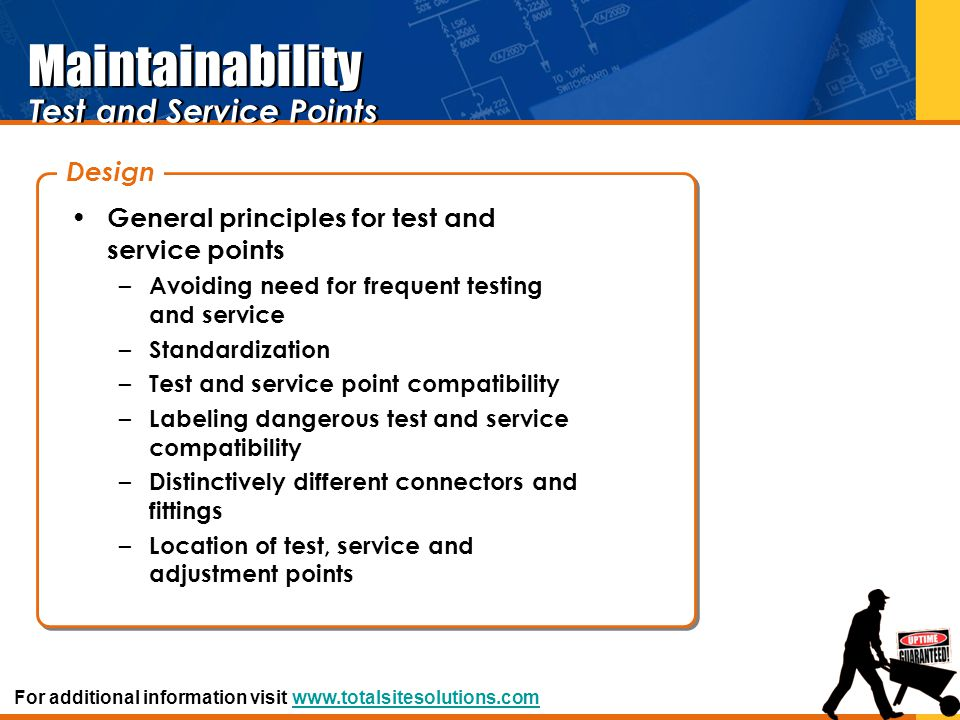 Maintainability Test and Service Points Design
