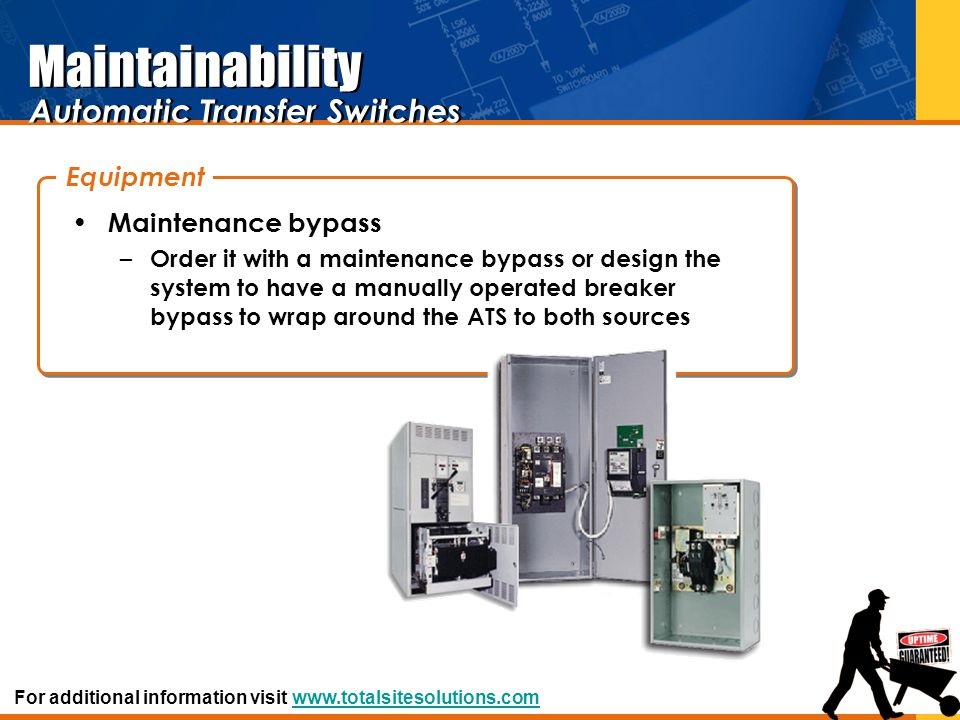 Maintainability Automatic Transfer Switches Equipment