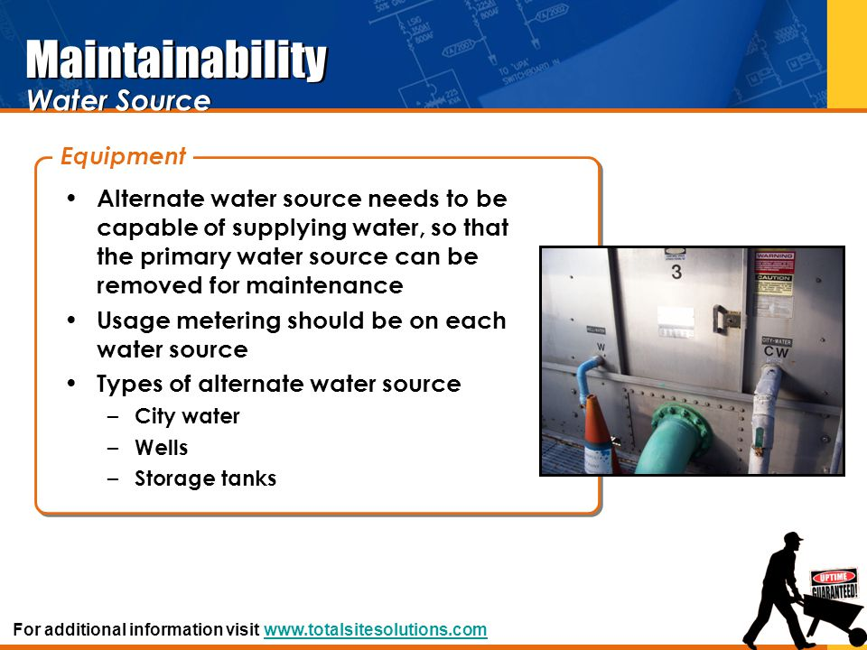 Maintainability Water Source Equipment