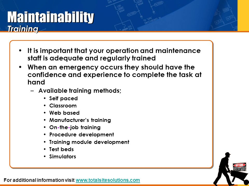 Maintainability Training