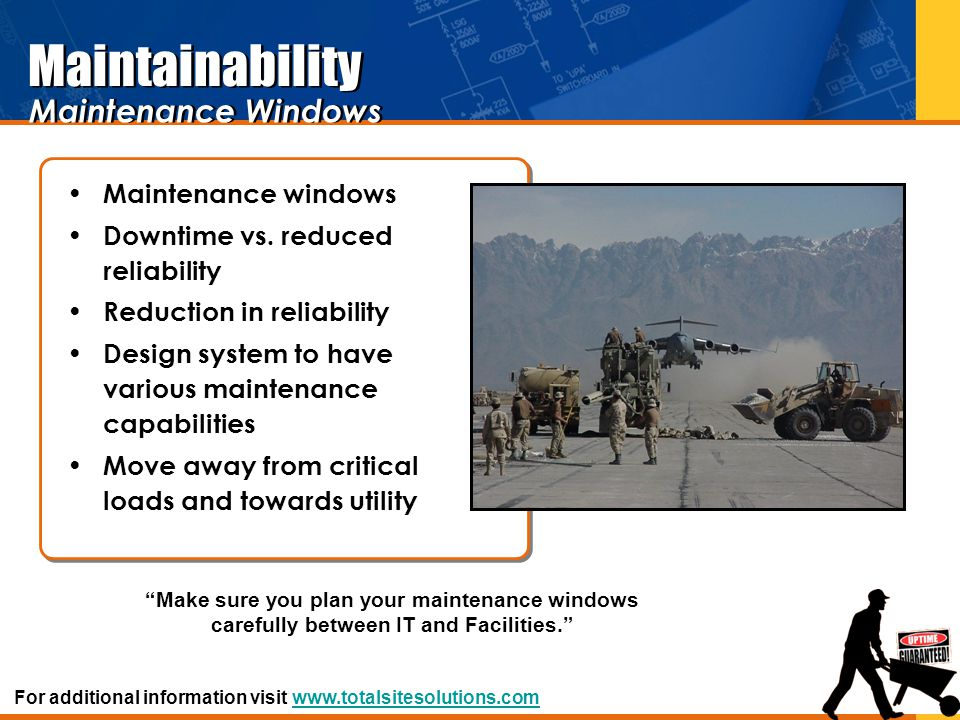 Maintainability Maintenance Windows Maintenance windows