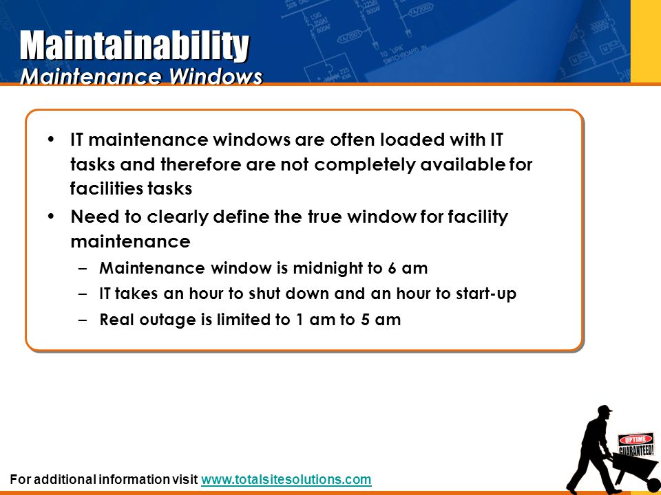 Maintainability Maintenance Windows