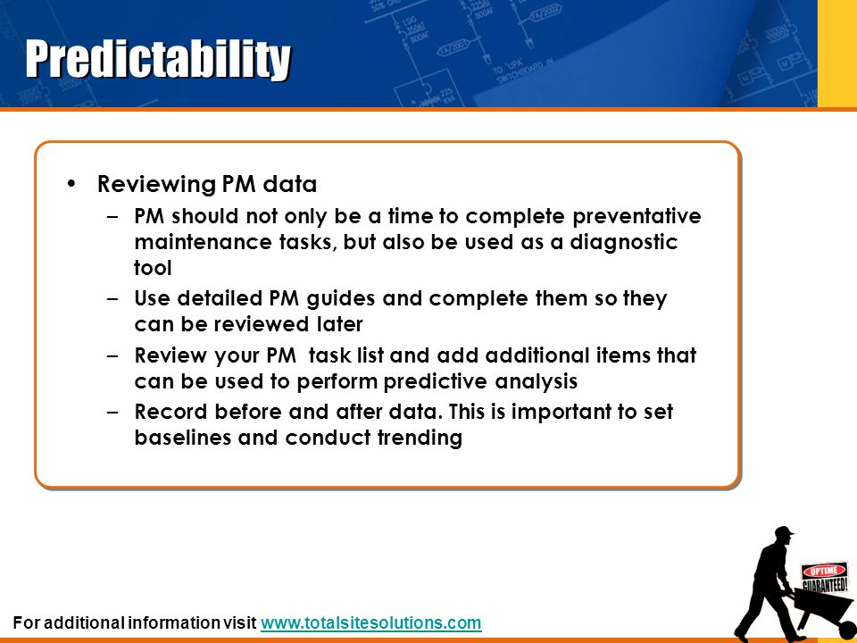 Predictability Reviewing PM data