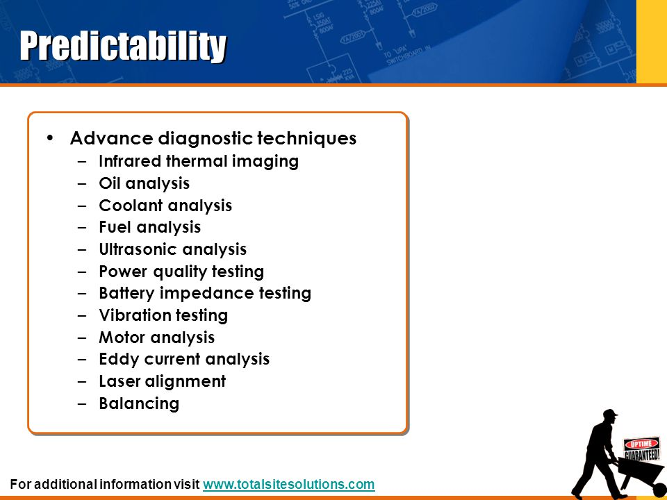 Predictability Advance diagnostic techniques Infrared thermal imaging