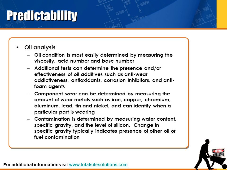 Predictability Oil analysis