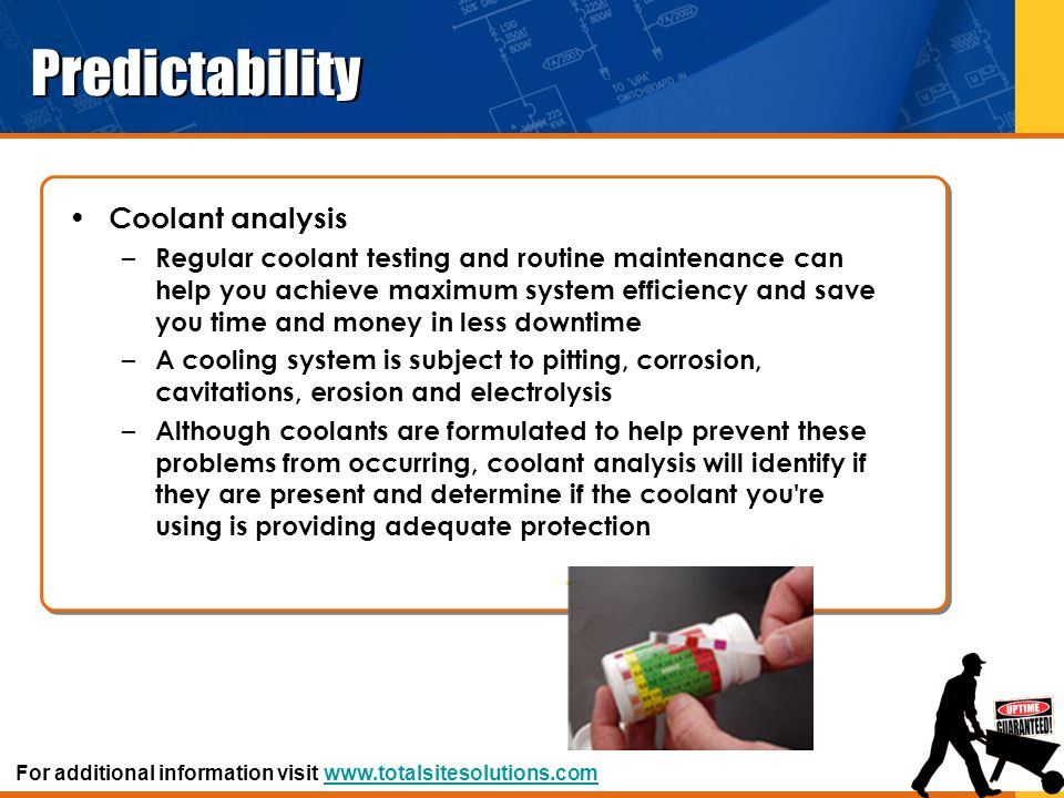Predictability Coolant analysis