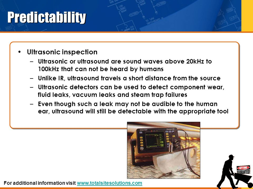 Predictability Ultrasonic inspection