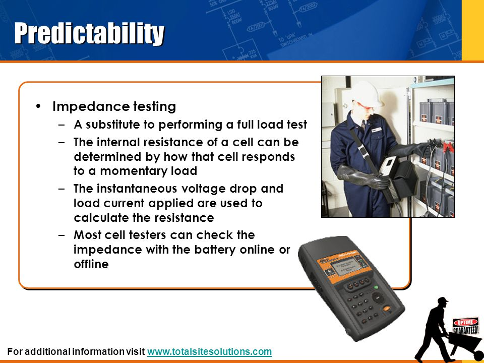 Predictability Impedance testing