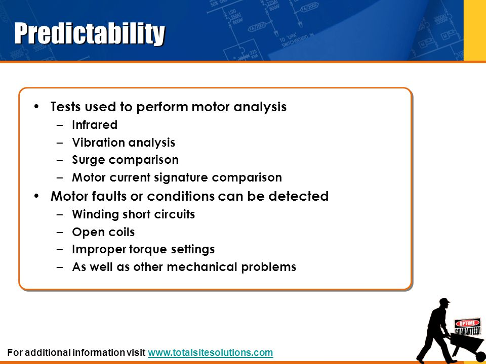 Predictability Tests used to perform motor analysis