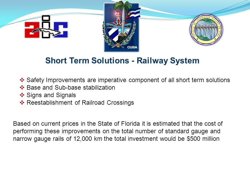Short Term Solutions - Railway System