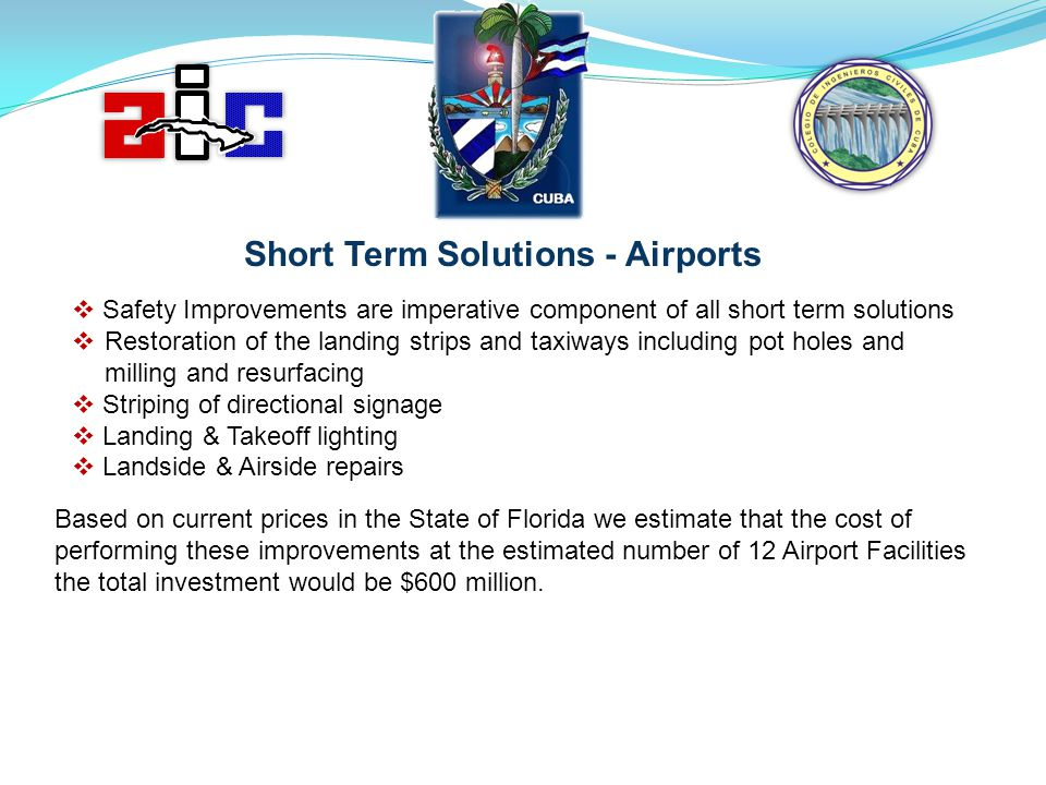 Short Term Solutions - Airports