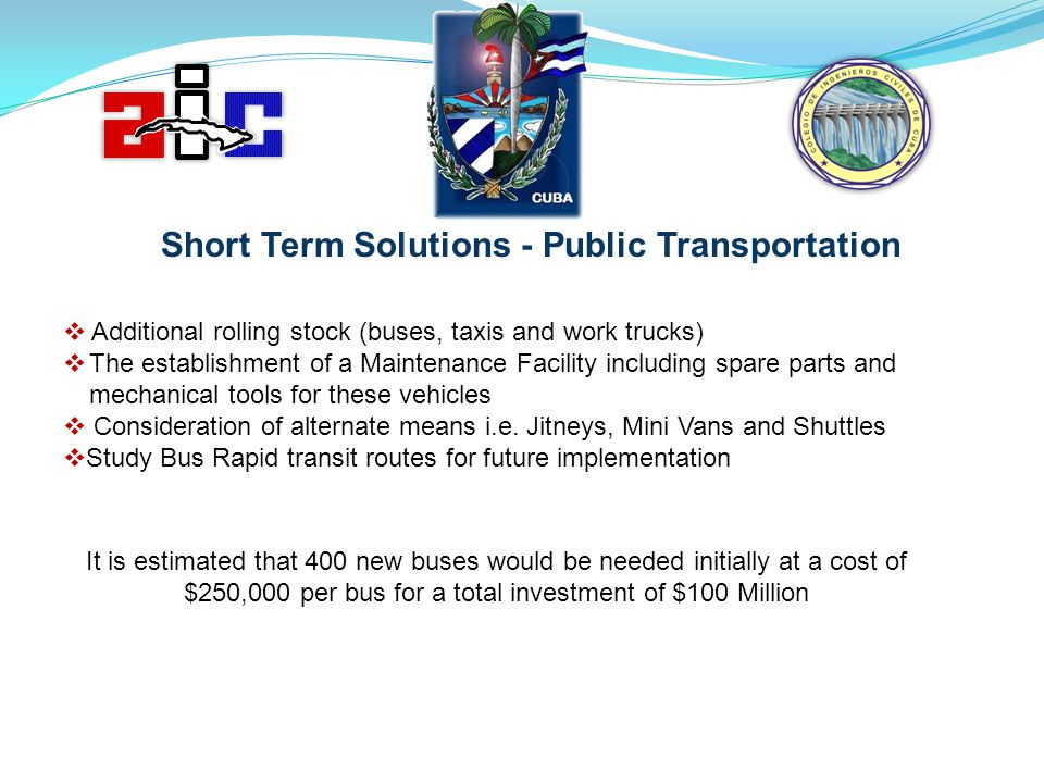 Short Term Solutions - Public Transportation
