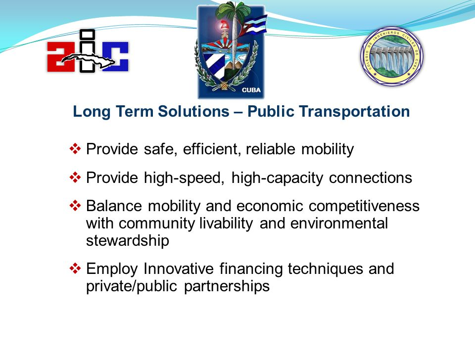Long Term Solutions – Public Transportation