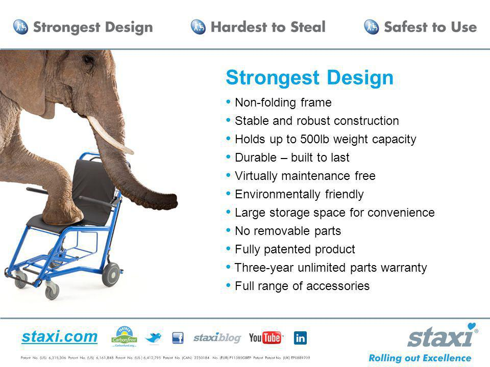 Strongest Design Non-folding frame Stable and robust construction