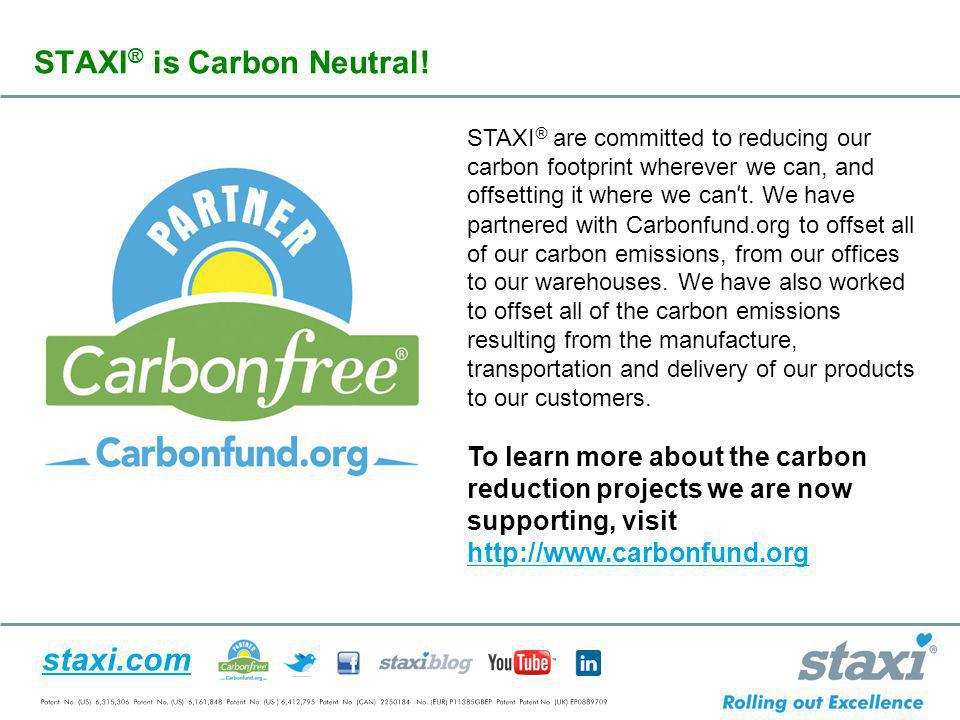 STAXI® is Carbon Neutral!