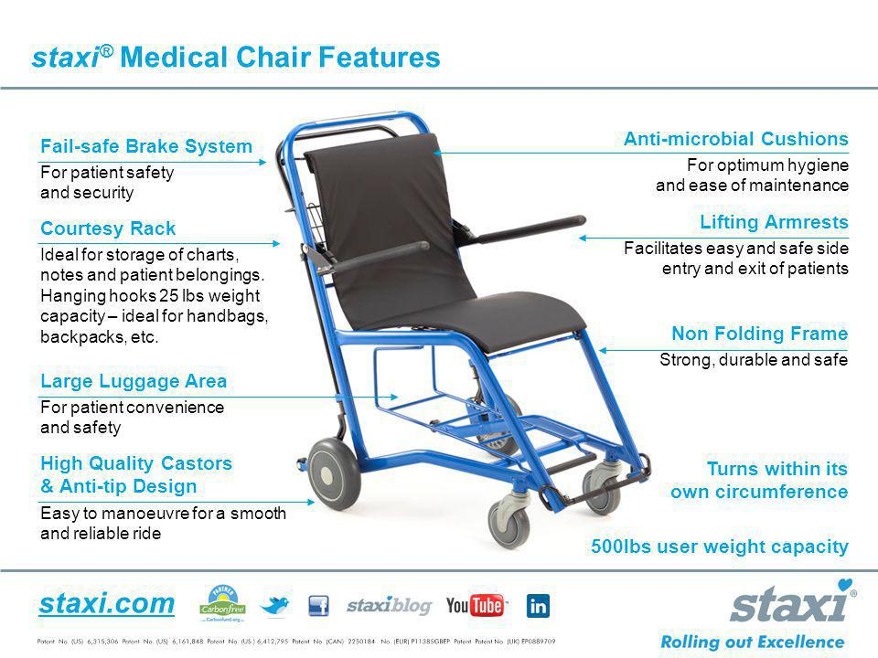 staxi® Medical Chair Features