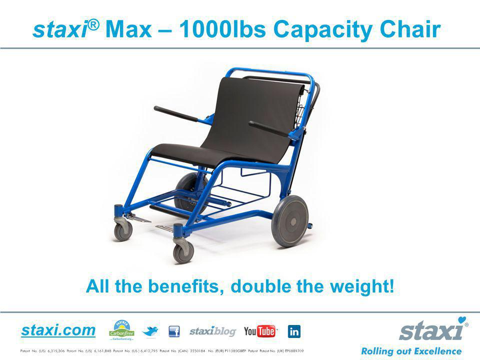 staxi® Max – 1000lbs Capacity Chair