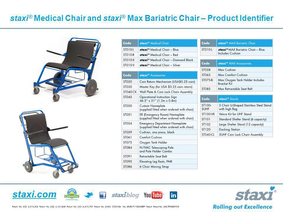 staxi® Medical Chair and staxi® Max Bariatric Chair – Product Identifier