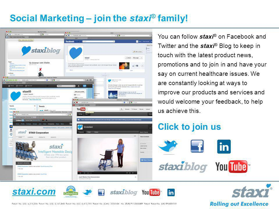 Social Marketing – join the staxi® family!