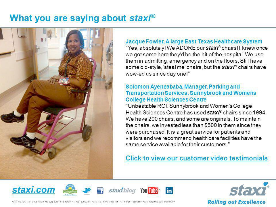 What you are saying about staxi®