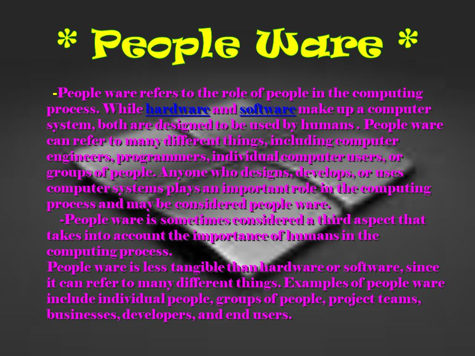 * People Ware *
