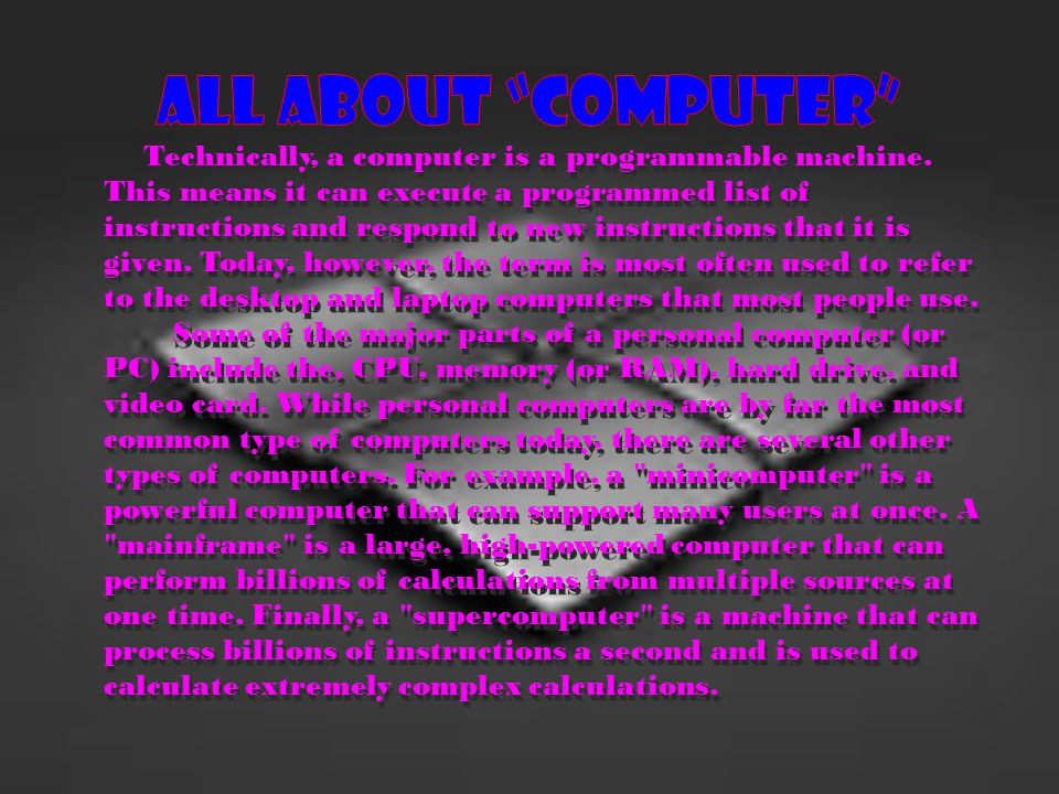 All about Computer