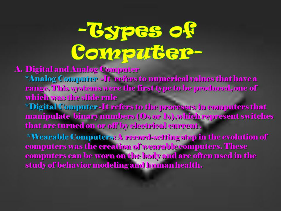 -Types of Computer-