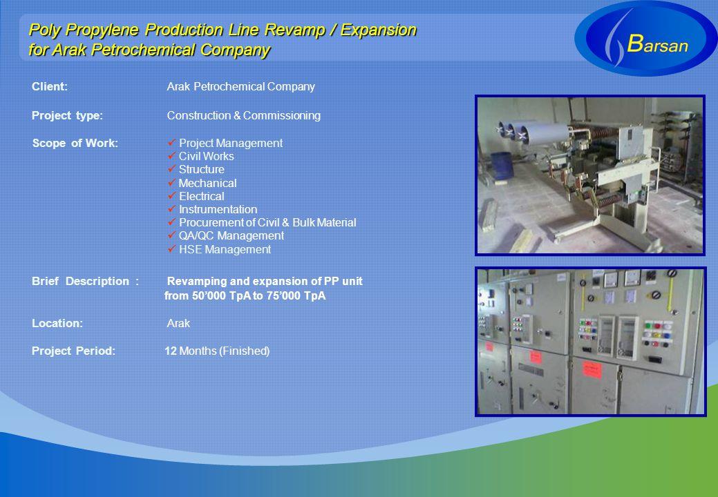Poly Propylene Production Line Revamp / Expansion