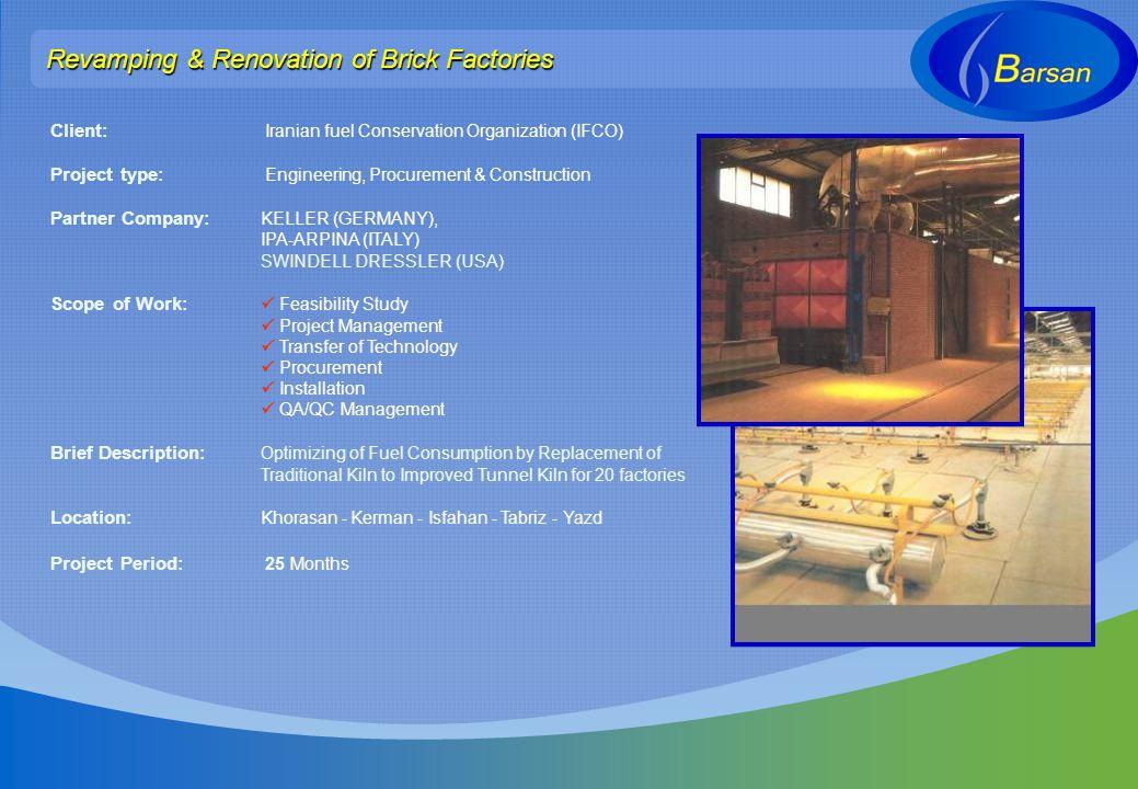 Revamping & Renovation of Brick Factories