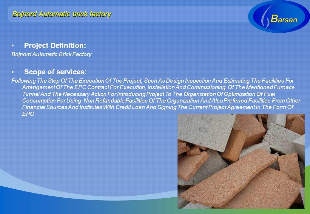 Bojnord Automatic brick factory