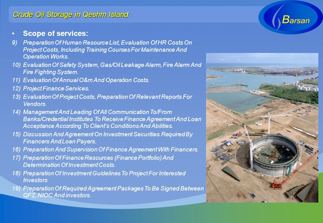 Crude Oil Storage in Qeshm Island