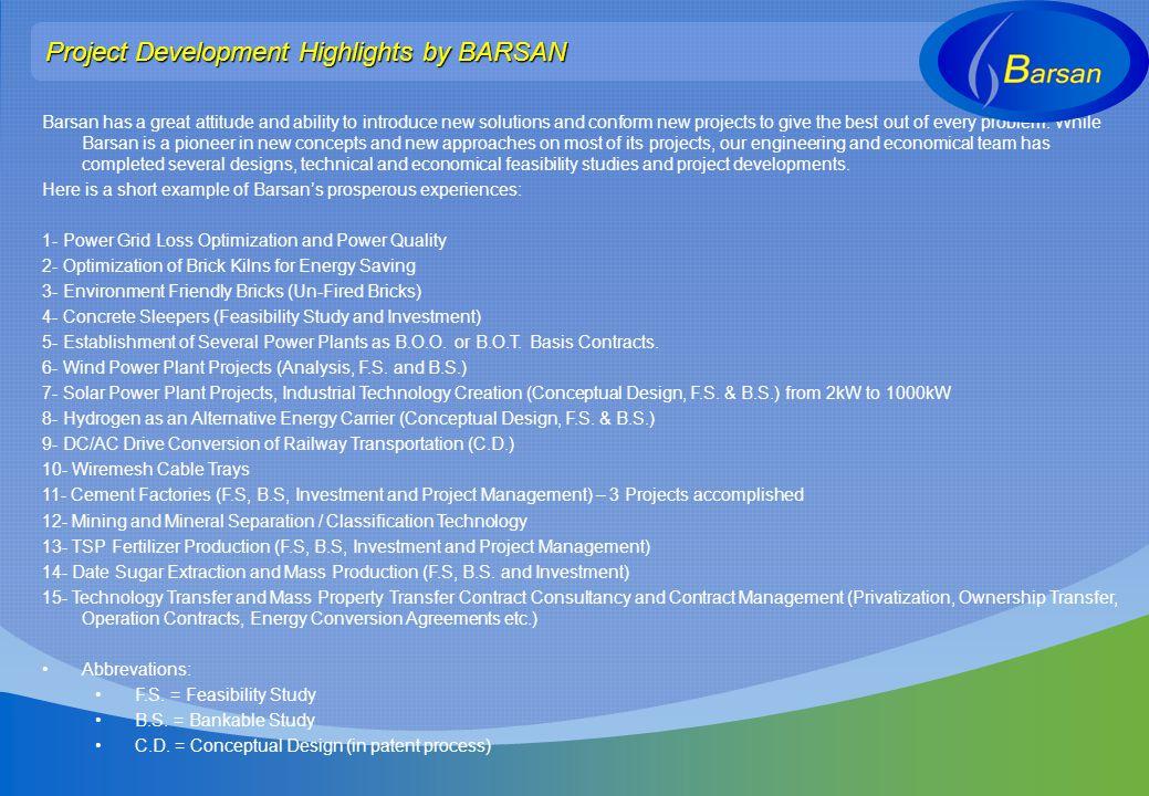 Project Development Highlights by BARSAN