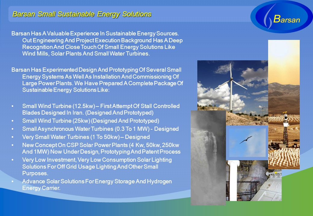 Barsan Small Sustainable Energy Solutions