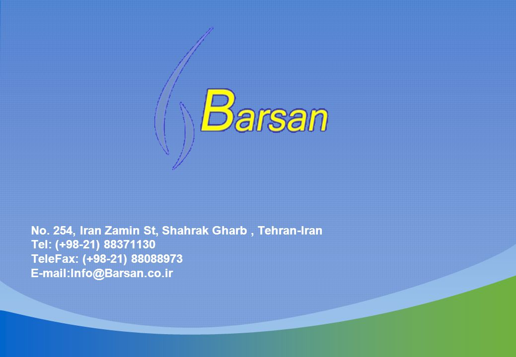 No. 254, Iran Zamin St, Shahrak Gharb , Tehran-Iran