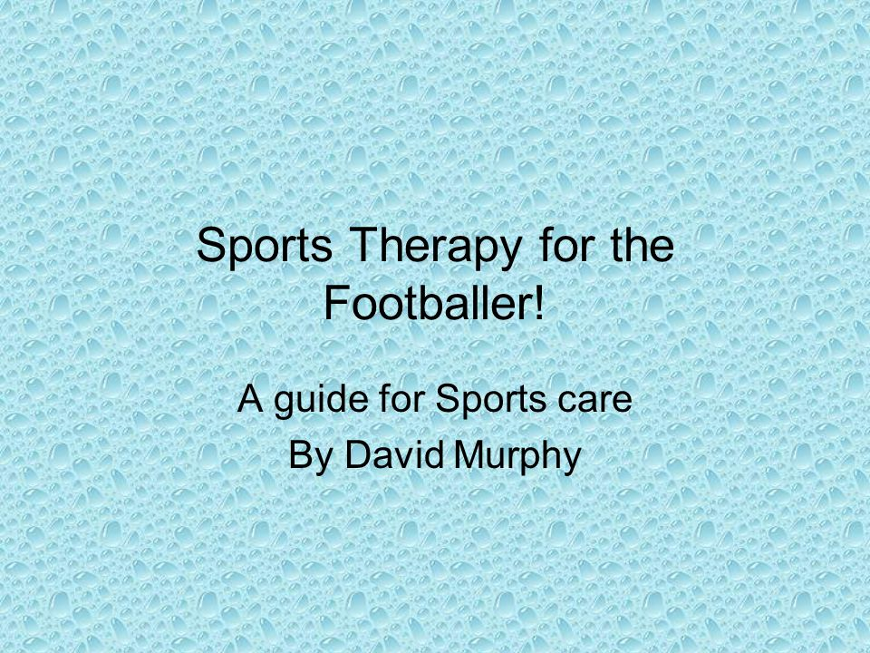 Sports Therapy for the Footballer!