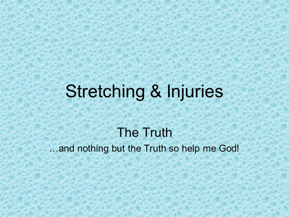 The Truth …and nothing but the Truth so help me God!