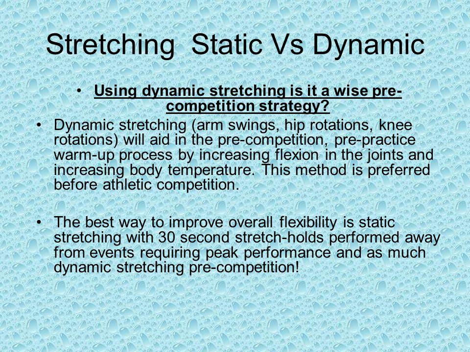 Stretching Static Vs Dynamic