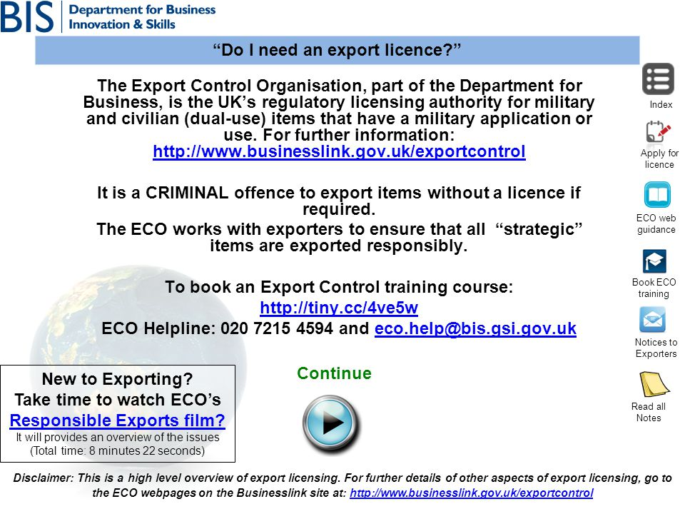 To book an Export Control training course: http://tiny.cc/4ve5w