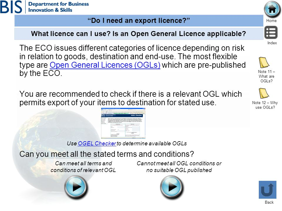 What licence can I use Is an Open General Licence applicable