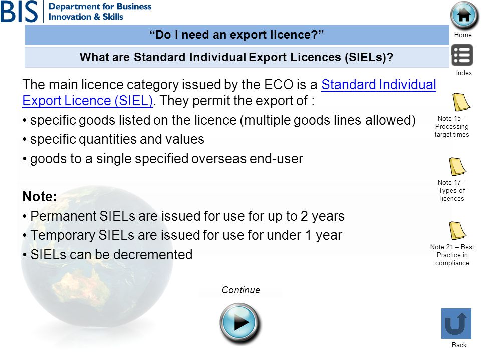 What are Standard Individual Export Licences (SIELs)
