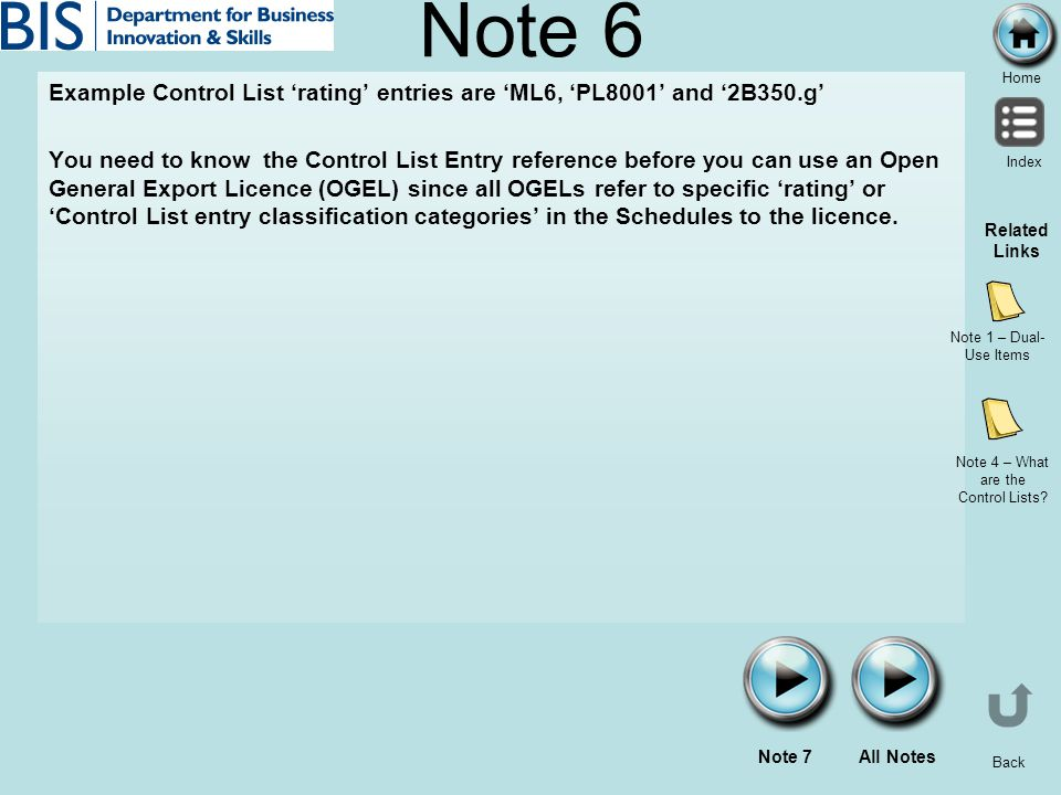 Note 4 – What are the Control Lists