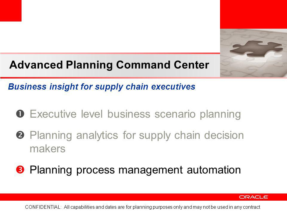 Advanced Planning Command Center