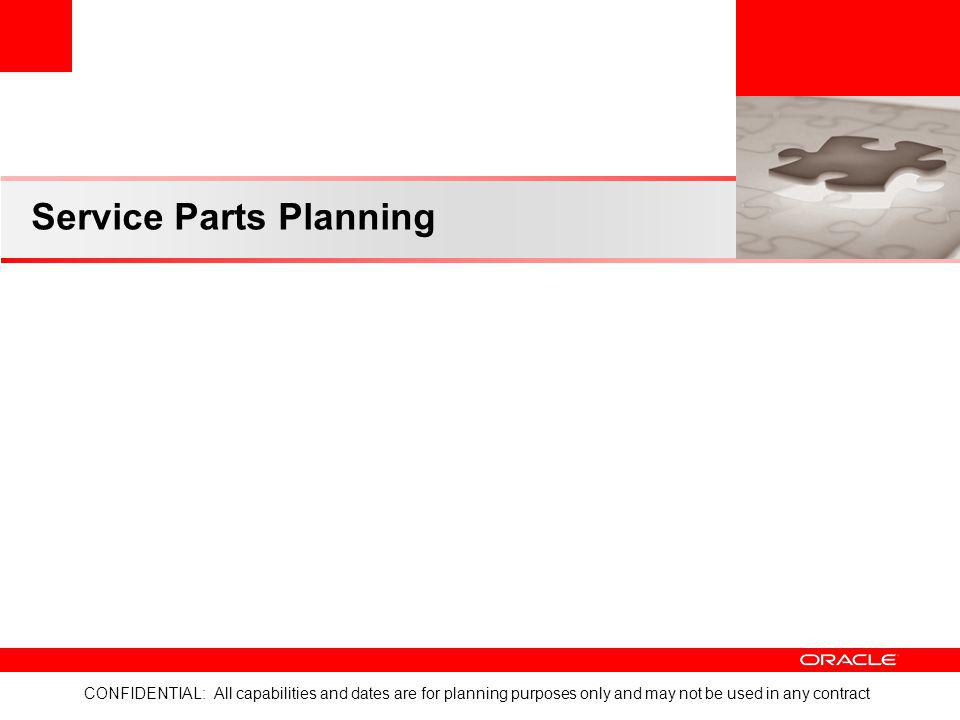 Service Parts Planning