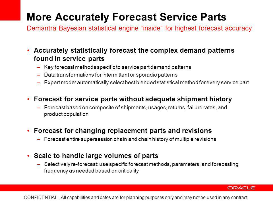 More Accurately Forecast Service Parts