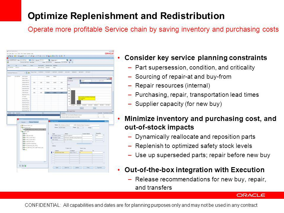 Optimize Replenishment and Redistribution