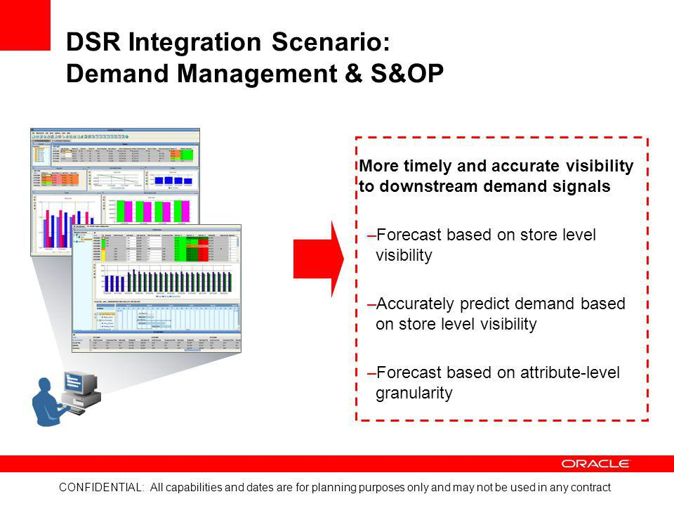 DSR Integration Scenario: Demand Management & S&OP