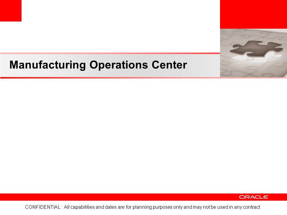 Manufacturing Operations Center